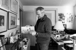 Philippe Donck dans son bureau, portrait d'entrepreneur, Bruxelles 2018