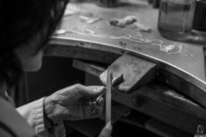 Travail de l'argent, atelier de joaillerie, Photo corporate, Wallonie 2018.
