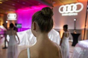 Audi Magic Night organisée par Nivelles Automobiles et SAWA Audi Center à l'Espace Del Goutte, Ophain. Découverte des modèles Audi Q8 et Audi A6 par le groupe Pattyn. 13-09-2018. Aurore Delsoir Photographe d'entreprise à Bruxelles et en Wallonie