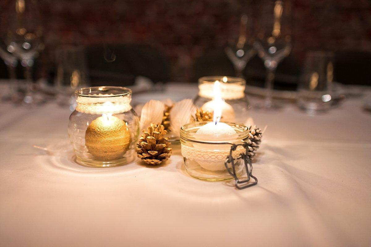 Décoration de table, mariage d'hiver, Aurore Delsoir photographe de mariage