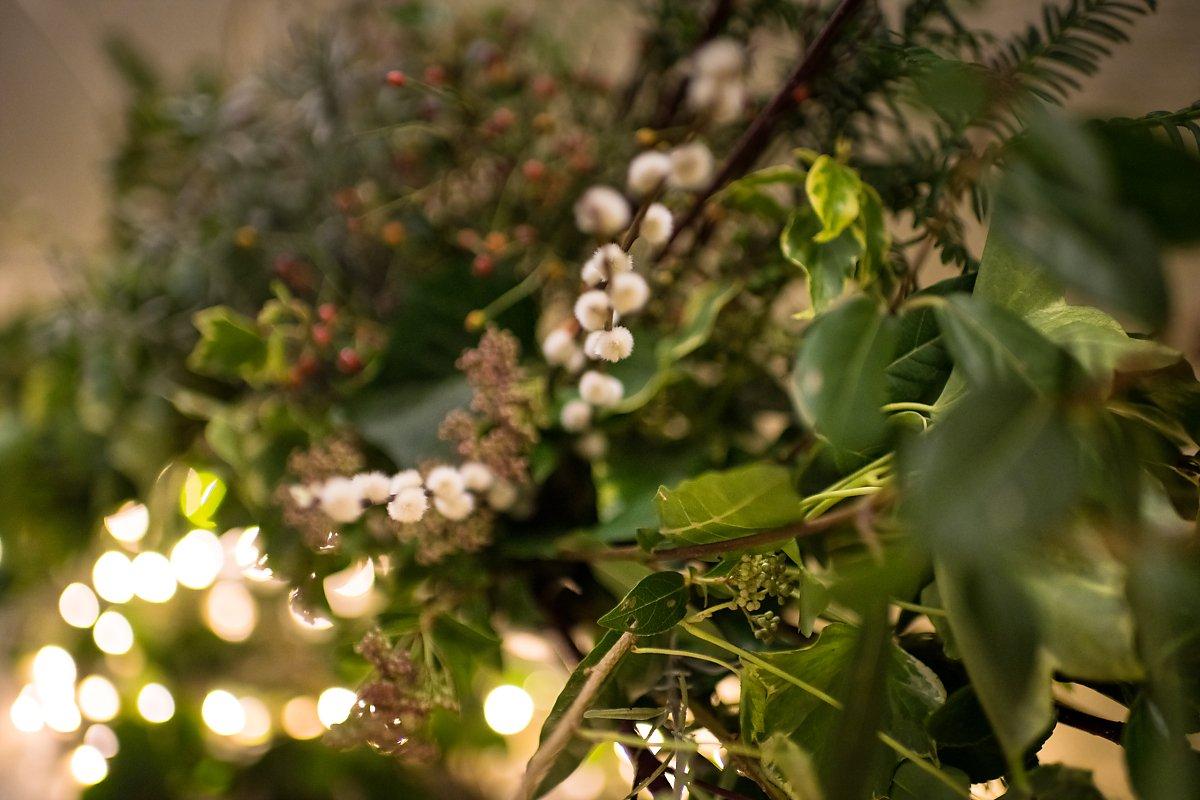Mariage d'hiver, décoration florale. Aurore Delsoir photographe de mariage