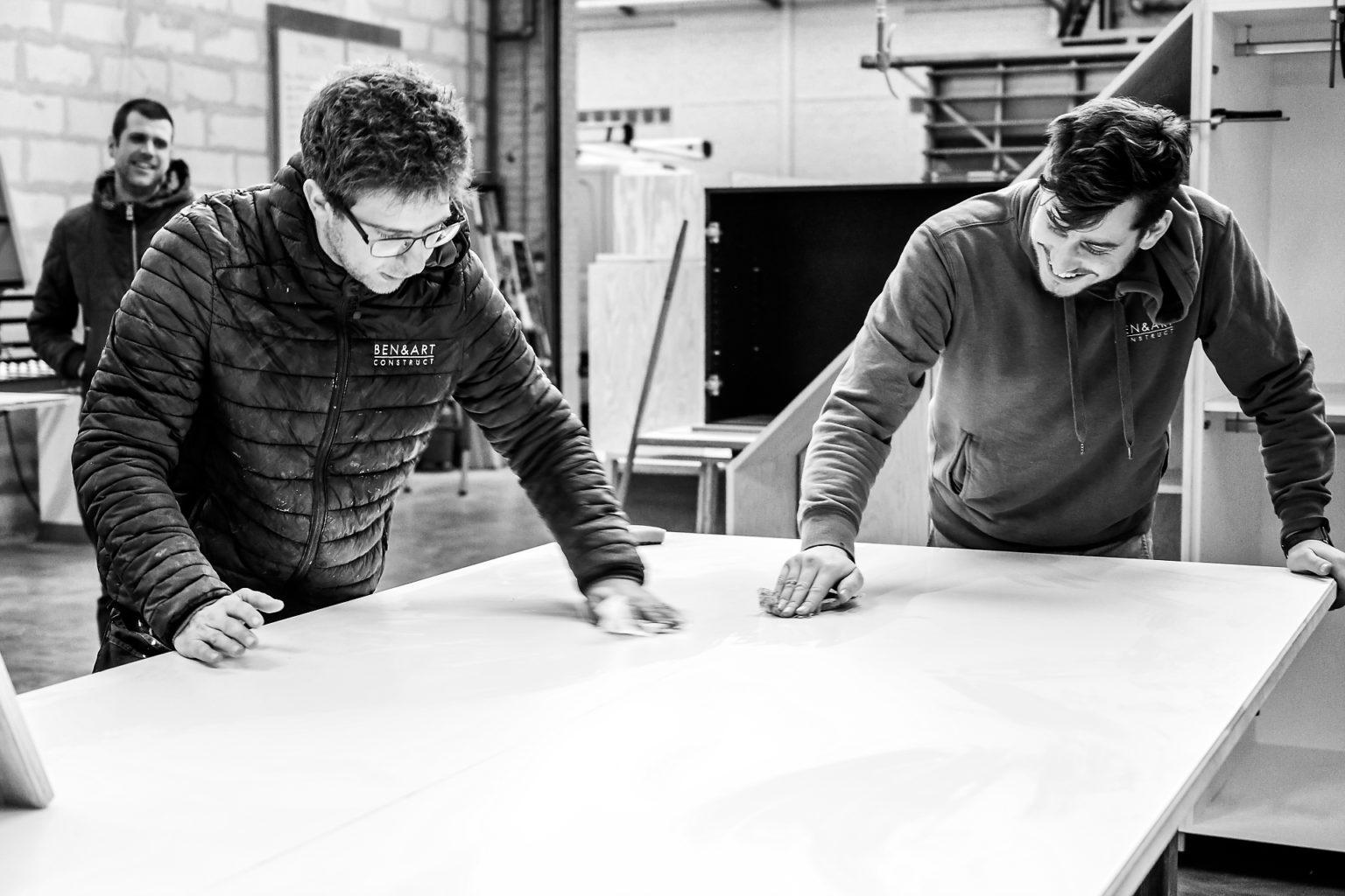 Benjamin Keizer, ben & Art Construction, portrait d'entrepreneur par Aurore Delsoir photographe d'entreprise