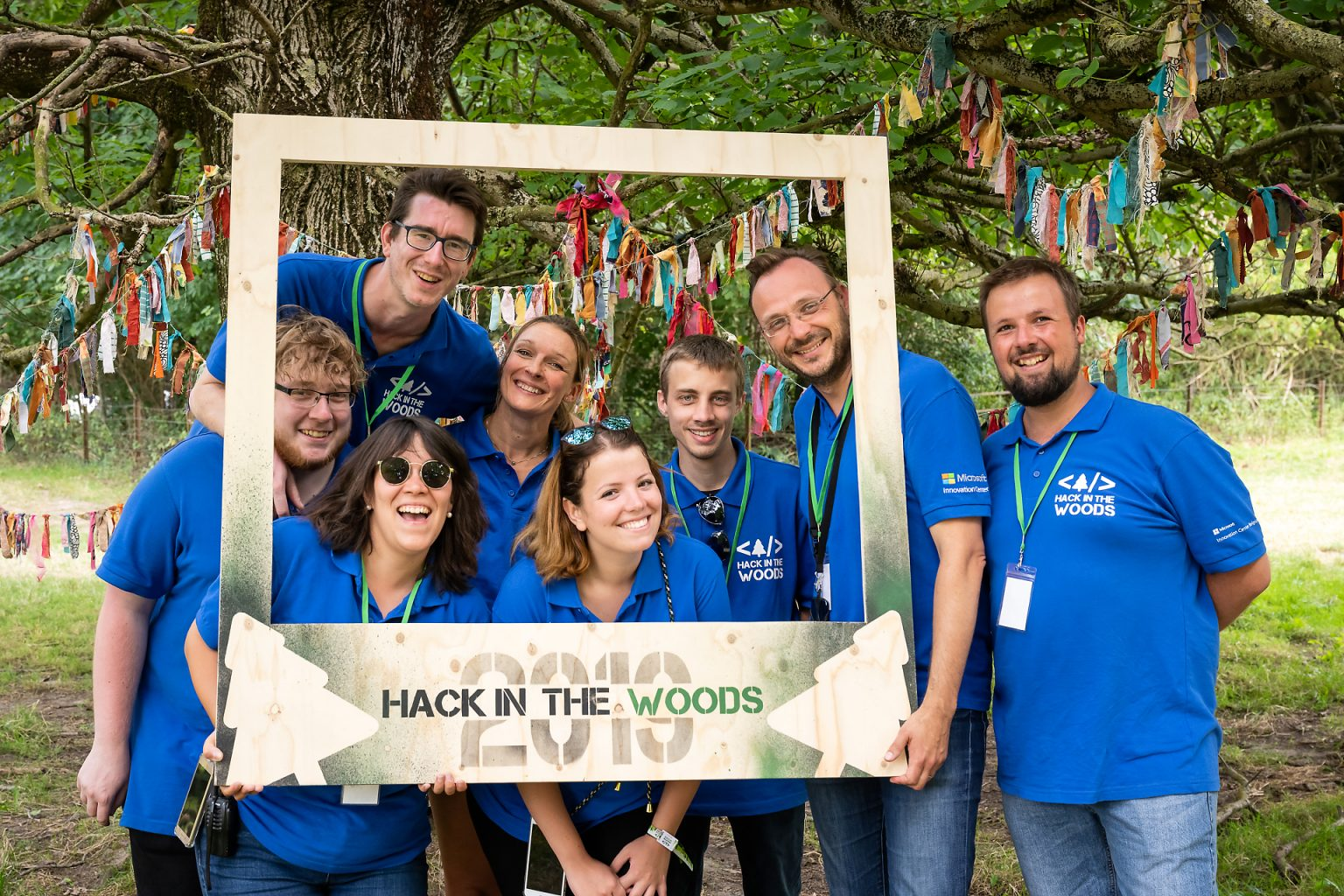 Equipe du Microsoft Innovation center, Hack in the Woods 2019 par Aurore Delsoir photographe corporate