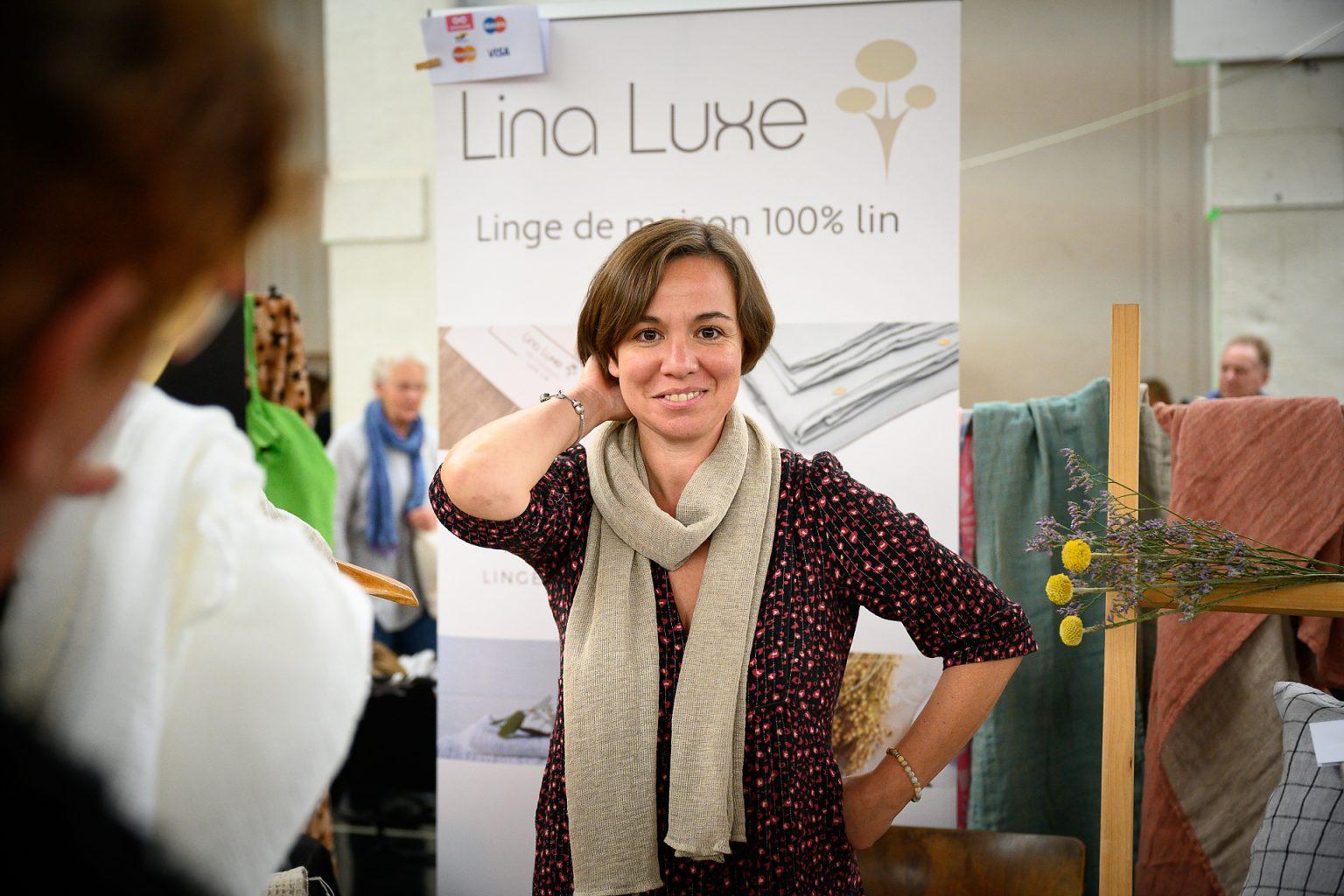 Lina Luxe au Salon Côté Bine-Etre, Abbaye de Floreffe, reportage événementiel par Aurore Delsoir photographe événementiel