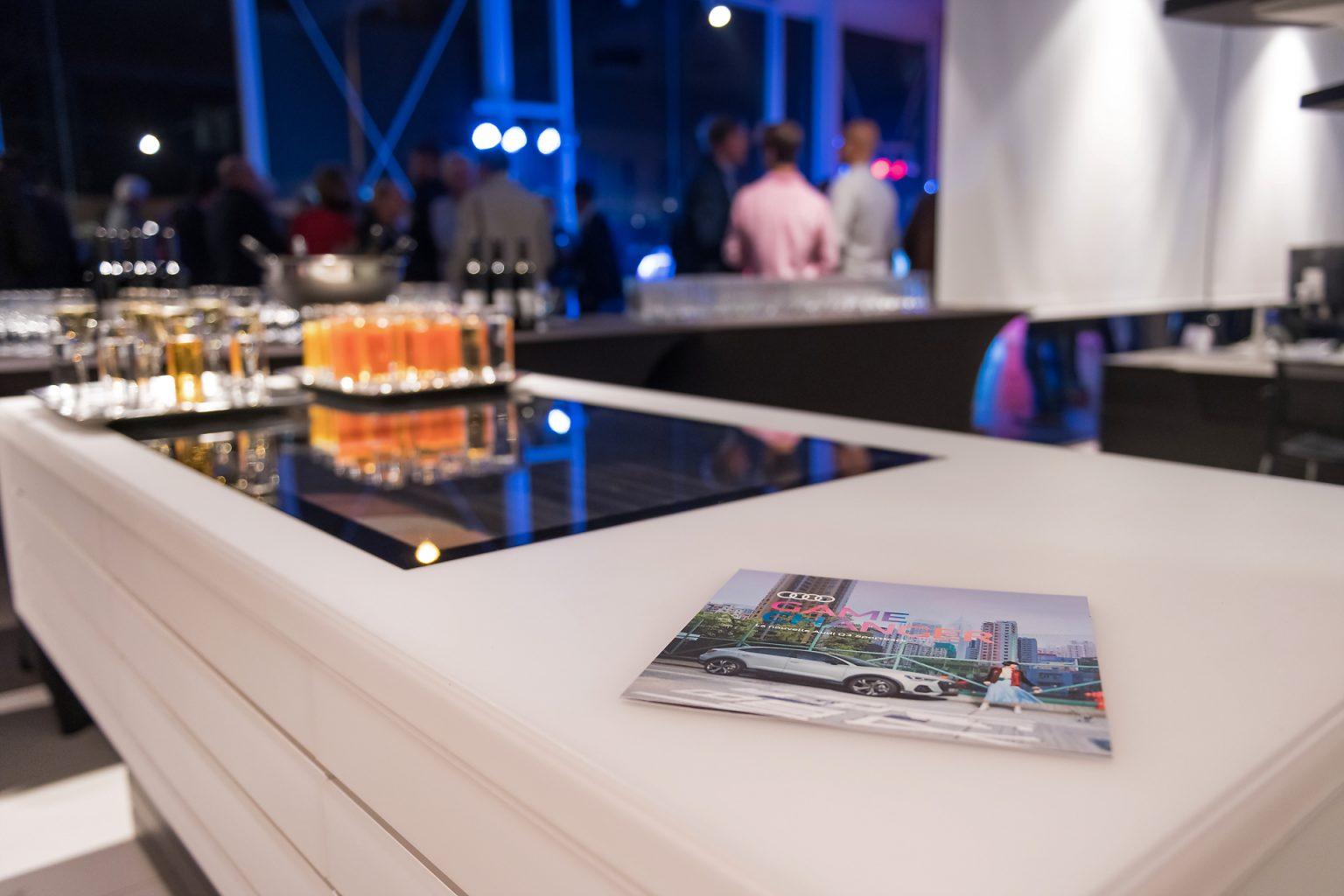 Détail de la réception, Audi Night 2019, Audi SAWA Center Waterloo par Aurore Delsoir photographe corporate