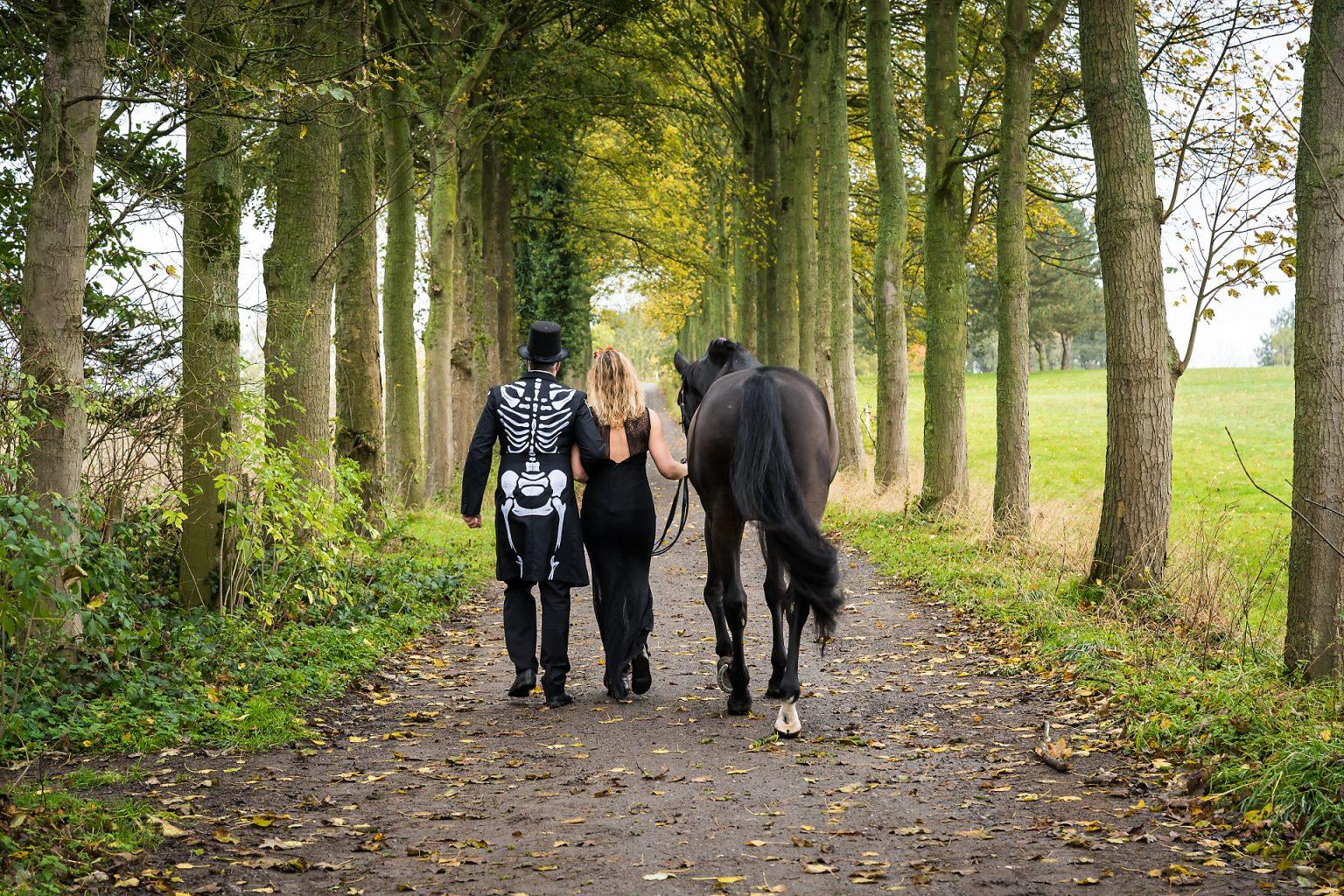 Portrait d'automne pour Haloween par Aurore Delsoir photographe