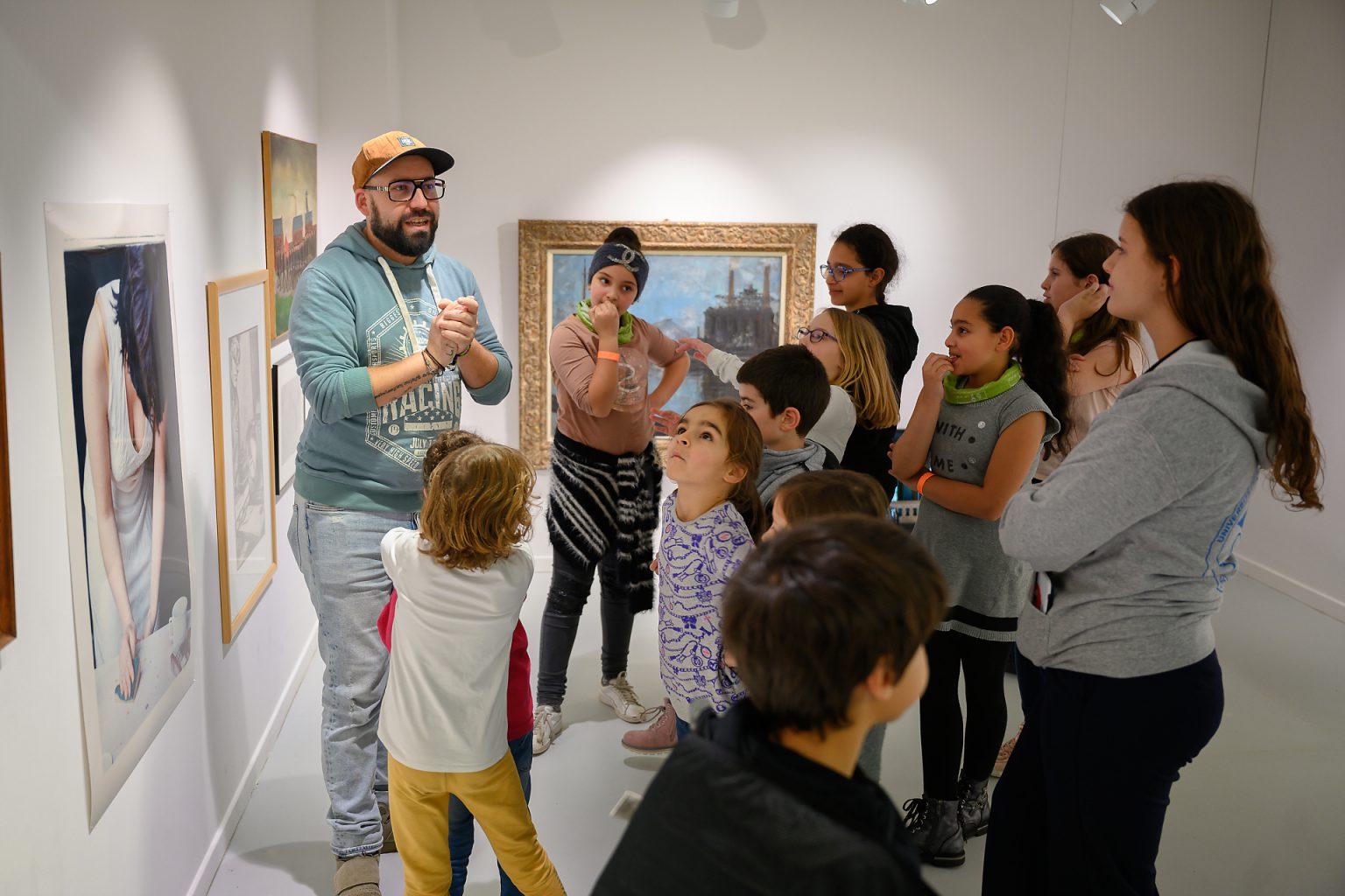 Atelier du musée BPS22 lors des après-midi de l'Université des Enfants de Charleroi, par Aurore Delsoir Photographe Corporate