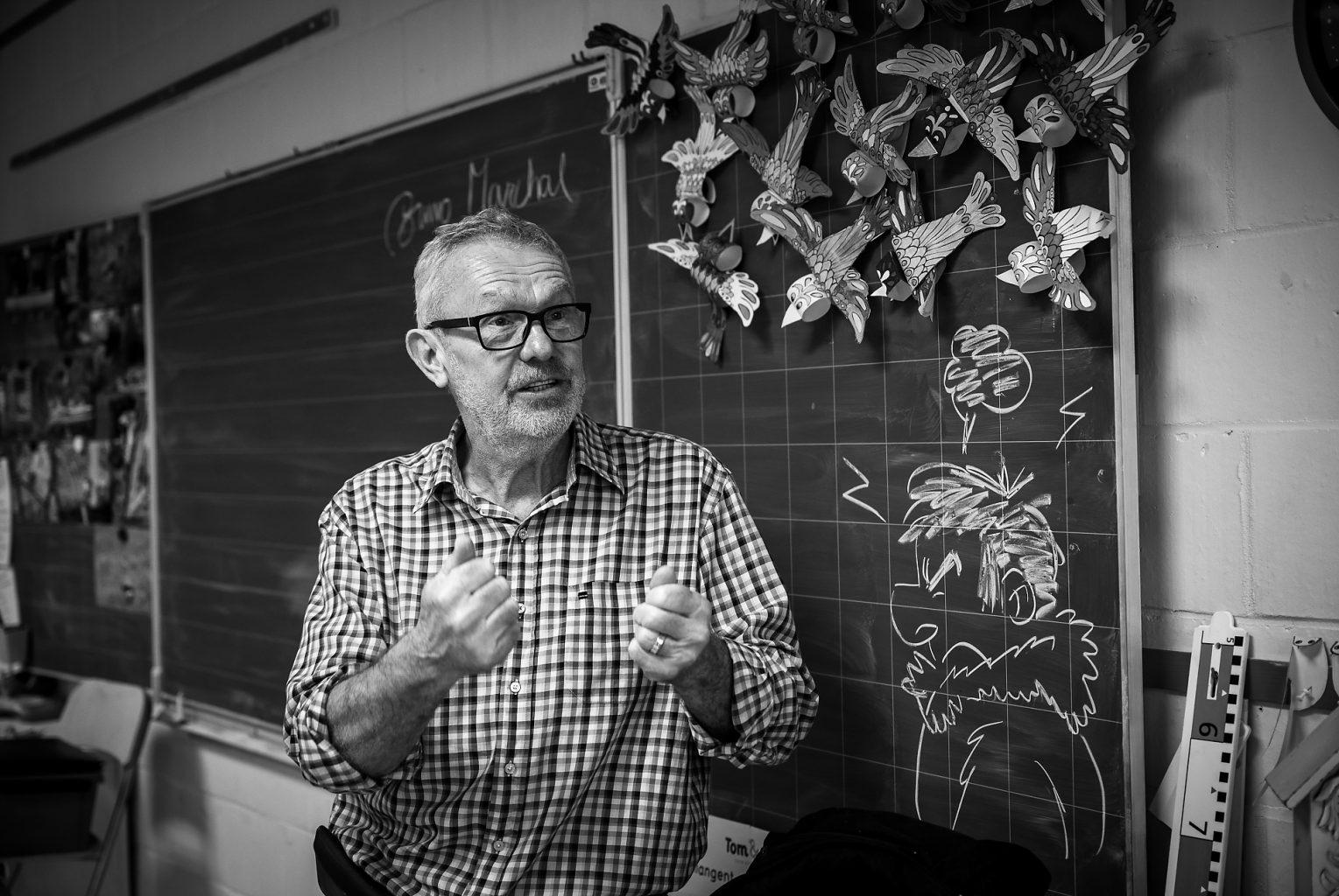 Bruno Marchal en pleine explication, Atelier Nichoir donné par Bruno Marchal, Aurore Delsoir Photographie