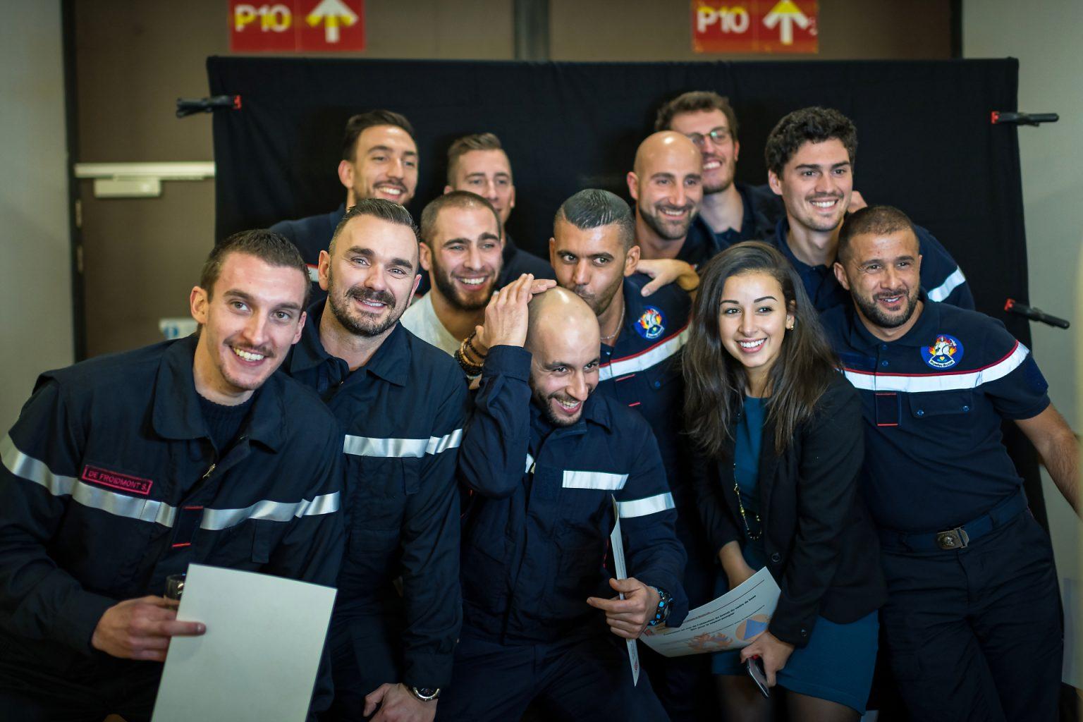 Diplômés Sapeurs Pompiers, Remise diplômes Brusafe.Brussels 2019 par Aurore Delsoir Photographe corporate