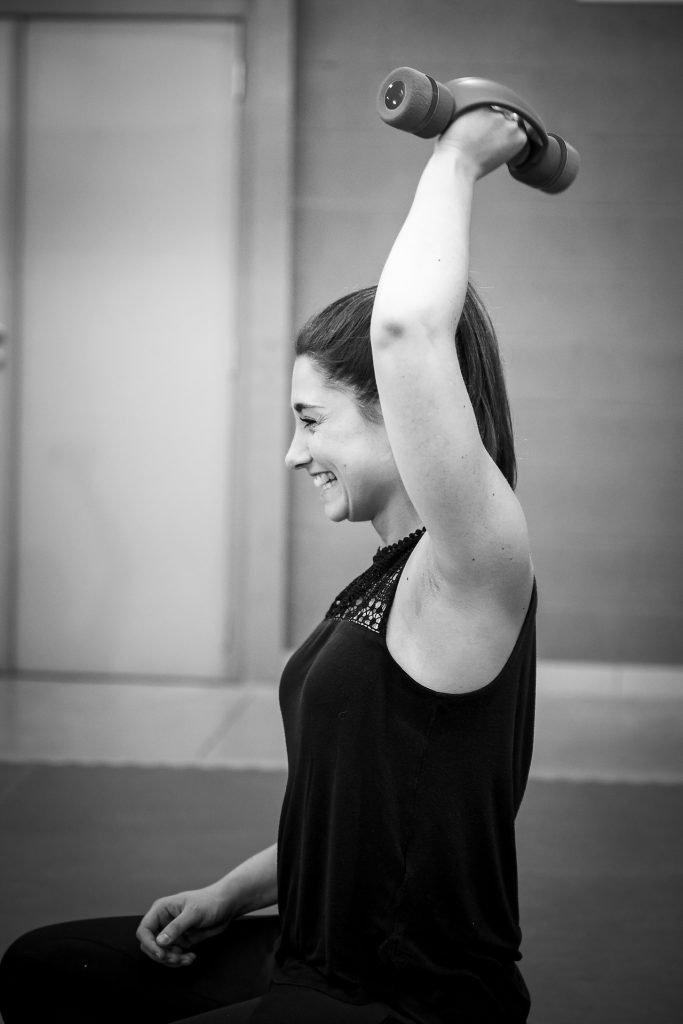 Séance de sport avec haltères, CISC, Aurore Delsoir Photo