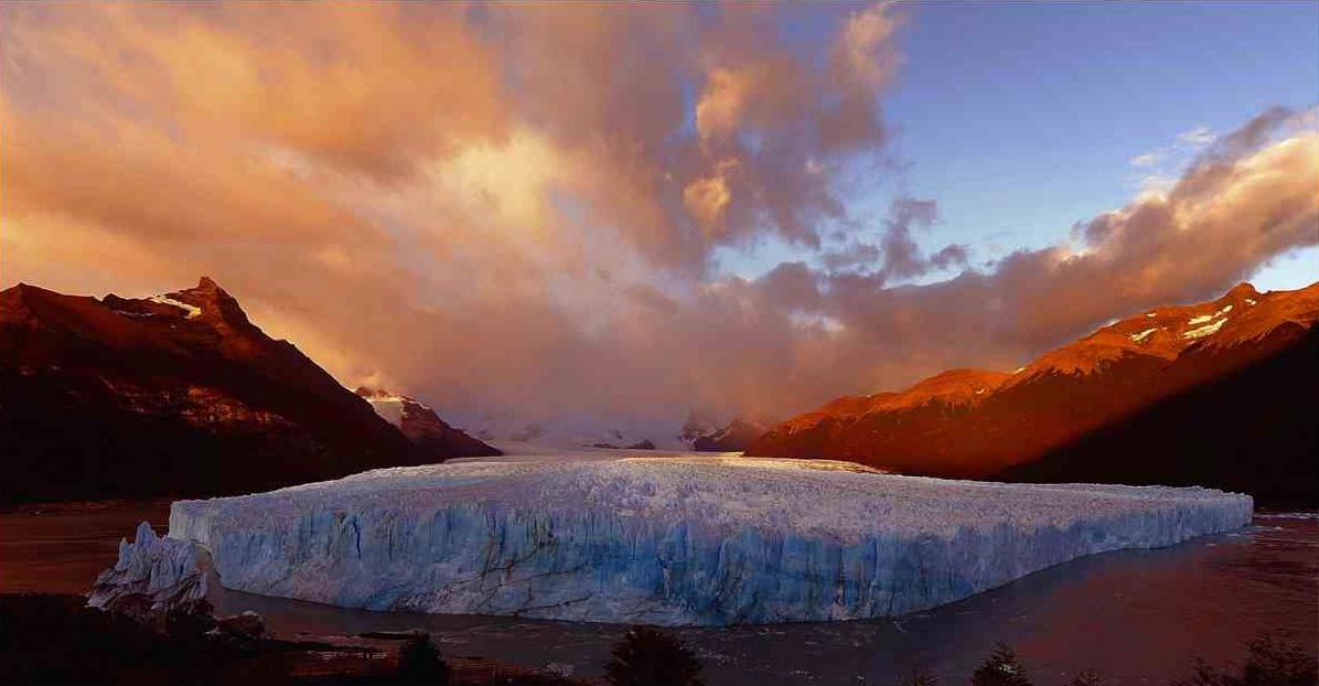 Perito Moreno soleil couchant