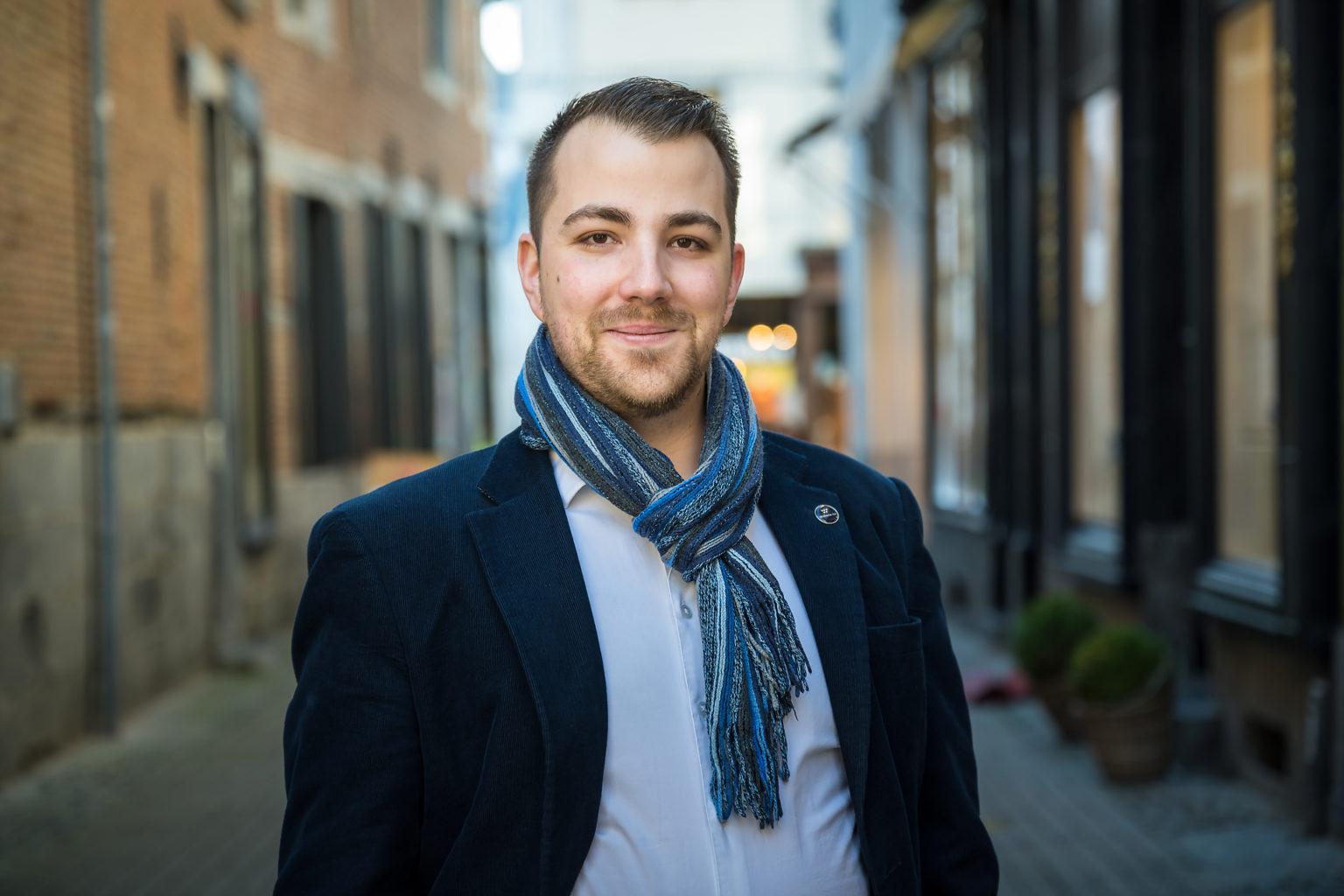 Nicolas Balon-Perrin, photo de profil entrepreneur, Aurore Delsoir photographe d'entreprise